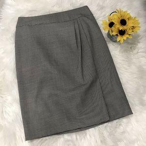 Ellen Tracy Black White Straight Pencil Skirt